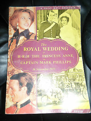 ILLUSTRATED SOUVENIR The Royal Wedding HRH Princess Anne+Cpt Mark Phillips 1973