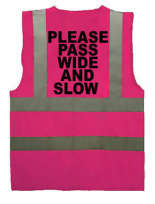 Pink Adult Horse Riding Hi-Vis Safety Vest Equestrian. High Viz Waistcoat