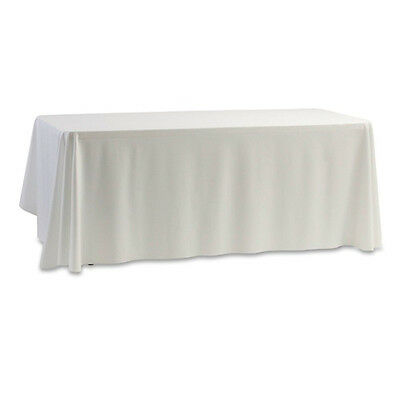Table Cover Tablecloth Satin White for Party Wedding Home 145x145cm