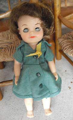 """Vintage 1965 Effanbee Girl Scout Doll 7 1/2"""" Tall"""