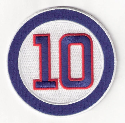 2011 Ron Santo Logo Memorial Chicago Cubs Patch #10 MLB Jersey Sleeve