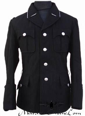 WW2 German M32 Black Officer Uniform Inclu Trousers S/M/L/XL/XXL/XXXL