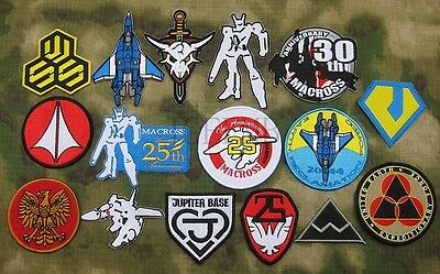 Robotech Macross Tactical morale animation Embroidery Patch Badges