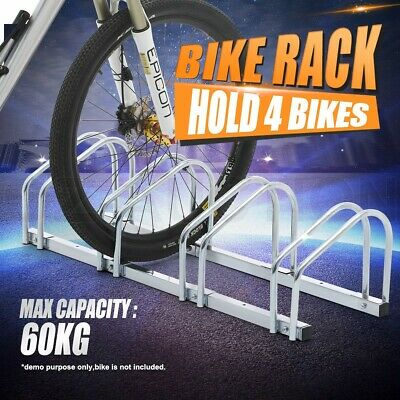 1-4 Bike Stand Floor Parking Rack Wall Storage Bicycle Holder Silver Portable