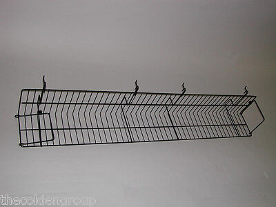 "10 Planet Racks 47 1/2"" Video Shelves for Gridwall/Slatwall/Pegboard - 2 Colors"