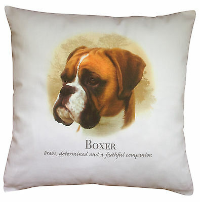Boxer Breed of Dog Cotton Cushion Cover with Story - Perfect Gift