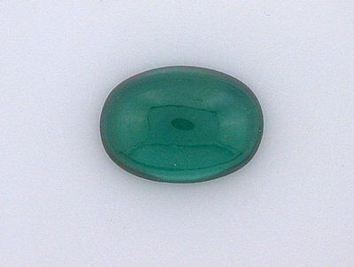 One 14x10 Oval Synthetic Green Emerald-Color Silica Gemstone 14mm x 10mm ebs3648