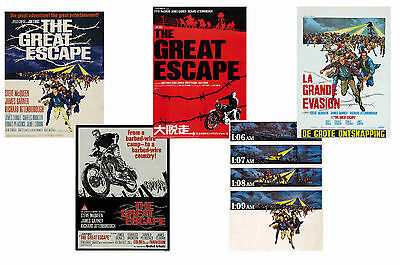 The Great Escape - Set Of 5 - A4 Film Poster Prints # 1