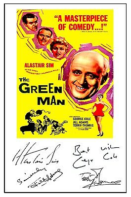 Alastair Sim  - The Green Man - Cast Signed (Pre Printed) A4 Poster