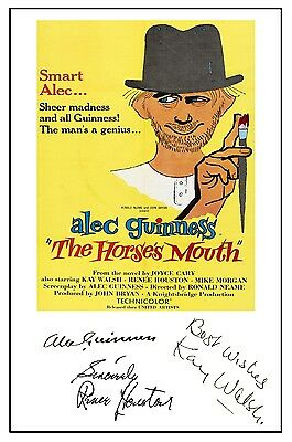Alec Guinness - The Horses Mouth - Cast Signed (Pre Printed) A4 Poster