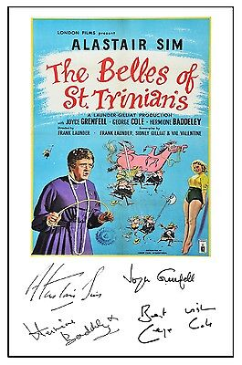 Belles Of St Trinians - Cast Signed (Pre Printed) A4 Poster