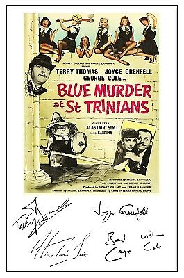 Blue Murder At St Trinians - Cast Signed (Pre Printed) A4 Poster
