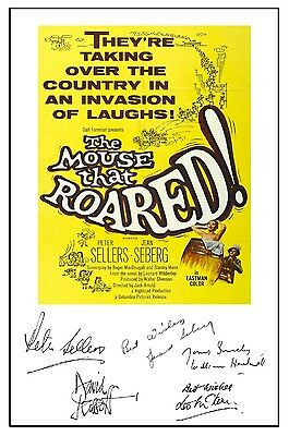 British Classic - The Mouse That Roared - Cast Signed (Pre Printed) A4 Poster