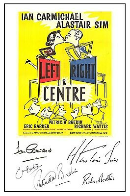 British Comedy - Left Right And Centre - Cast Signed (Pre Printed) A4 Poster