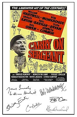 Carry On Sergeant - Cast Signed (Pre Printed) A4 Poster