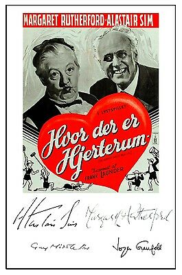 Margaret Rutherford - Happiest Days Of - Cast Signed (Pre Printed) A4 Poster