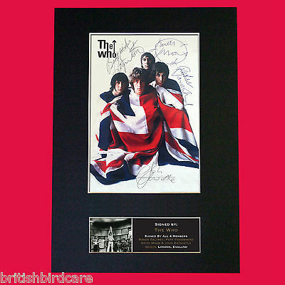 THE WHO Keith Moon Signed Autograph Rare Mounted Photo Repro A4 Print 448
