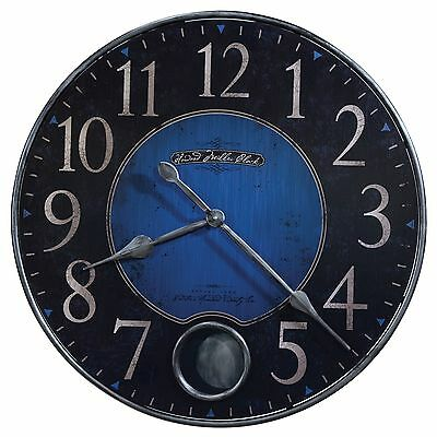 "625-568  Howard Miller 26 1/4"" Diameter Blue  Wall Clock With Pendulum  (625568)"