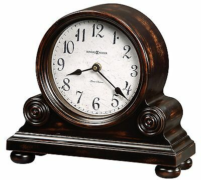 635-150    Howard Miller   Mantel Clock  In Aged Brown/black Finish