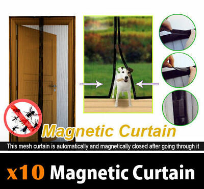 10x Mesh Magnetic Fly Screen Mosquito Bug Door Curtain Bulk Deal