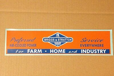 Briggs & Sratton Decal Like Old Sign 1950 Orange And Blue