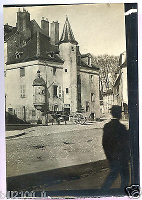 PHOTO ANCIENNE . Beaune vers 1900 . rue Diogène . cote d'or. Bourgogne .