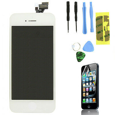 LCD Lens Touch Screen Display Digitizer Assembly Replacement for iPhone 5 White