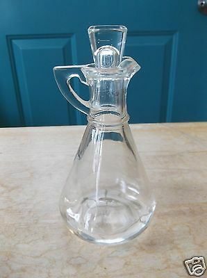 Retro Hazel-Atlas Clear Glass Cruet With Lid