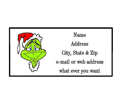 Christmas X-Mas Grinch  Address Labels Cool!! #1