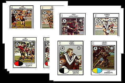 Nrl Rugby League (1975) - Gum Card/ Postcard Set # 1