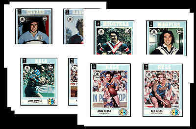 Nrl Rugby League (1977) - Gum Card/ Postcard Set # 1