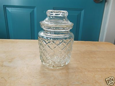Small Retro Clear Glass Canister with Lid