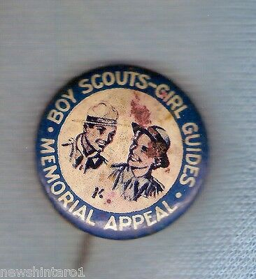 #d103.  Tin Badge - Boy Scouts & Girl Guides Memorial Appeal
