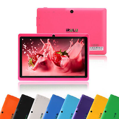 "IRULU Tablet PC Multi-Color 7"" Android 4.2 Dual Core & Cameras A23  8GB 1.5GHz"