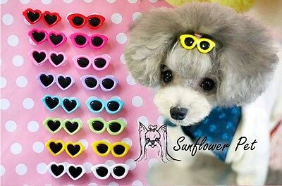 2 Designs Pet Dog Hair Bows Pet Hair Clips Doggie Boutique sunglasses groomings
