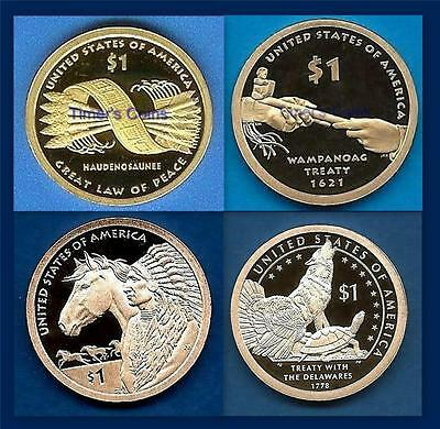 2010 2011 2012 AND 2013 S Proof Sacagawea Native American Dollar-Four Dollars