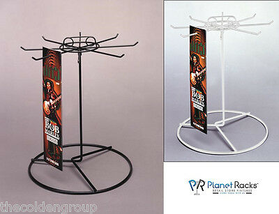 Planet Racks 1 Tier 8 Peg Rotating Counter Display - Black or White