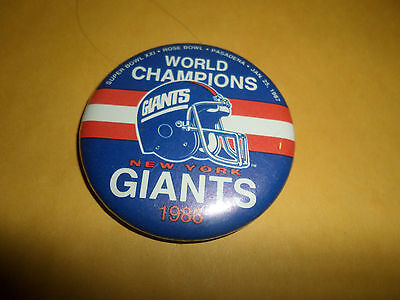 """Super Bowl Xxi Buttons / Pin Giants Broncos World Champions 2 1/4"""""""