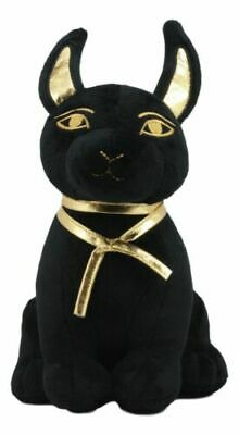 Egyptian Super Cute Plush Doll Anubis Puppy Hound Afterlife Black And Gold