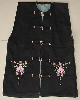 Tribal Vintage Chinese Minority people's local cloth hand embroidery vest Jacket