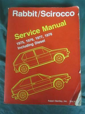 Volkswagen RABBIT/SCIROCCO 1975-1978 Service Manual