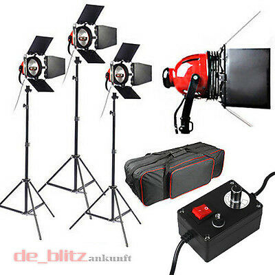 3x800W Red Head Redhead Halogen Lampe Fotostudio Studioset Leuchte für Video