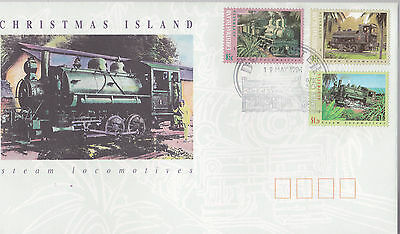 1994 Christmas Island Steam Locomotives FDC - Doncaster Pictorial PMK