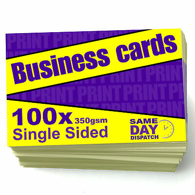 100 Business Cards - 350gsm card - Single sided