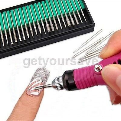 30pcs Electric Nail Art Manicure Pedicure File Drill Replacement Bits Tool Shank