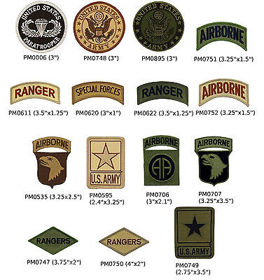 US Army Military Patches - Special Forces, Rangers, Paratroopers, Airborne Patch