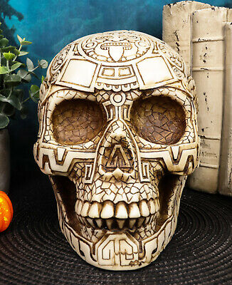 Bone Aztec Tattoo Tribal Skull Statue Resin Figurine Awesome Details