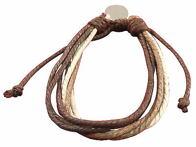 Men's rope surfer bracelet with engraved / personalised tag + gift pouch z30