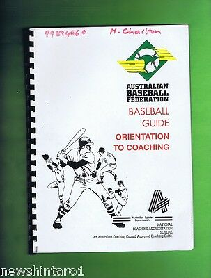 #t18. Australian  Baseball Coaching & Training  Booklet & Pamphlets