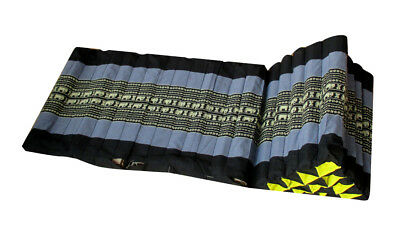 RaanPahMuang Thai Triangle unfilled Pillow Case 15 Segments 2 Panel Black Gary